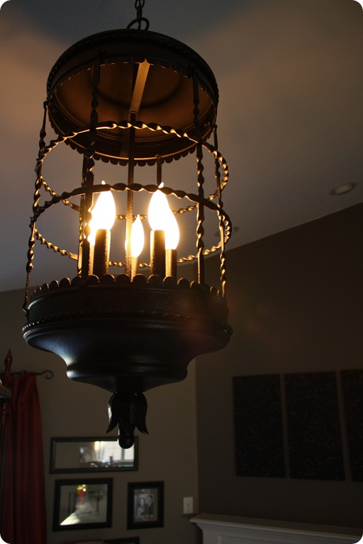 black bird cage chandelier
